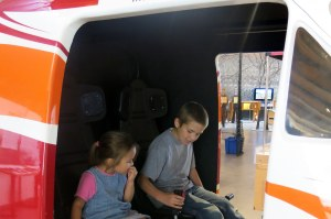 The children loved the aerospace exhibit! They spent lots of time flying planes.