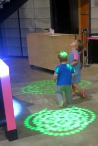 Desiree and Keane chased laser patterns.